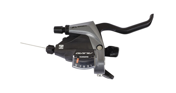 Shimano Alivio ST-M400 Schakelhendel 9 versnellingen voor 2 vingers grijs/zwart